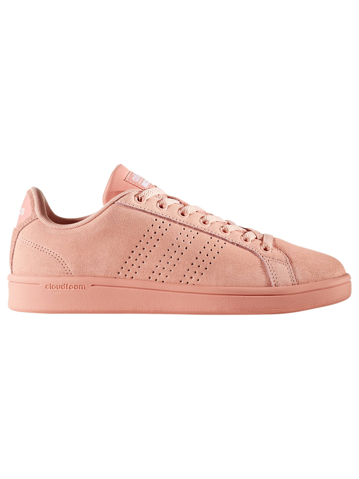 new style 6013a f4012 Buyadidas Cloudfoam Advantage Clean Womens Trainers, Pink, 4 Online at  johnlewis. ...