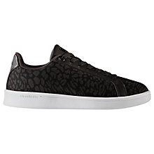 Buy Adidas Cloudfoam Advantage Clean Women's Trainers, Black Animal Online at johnlewis.com