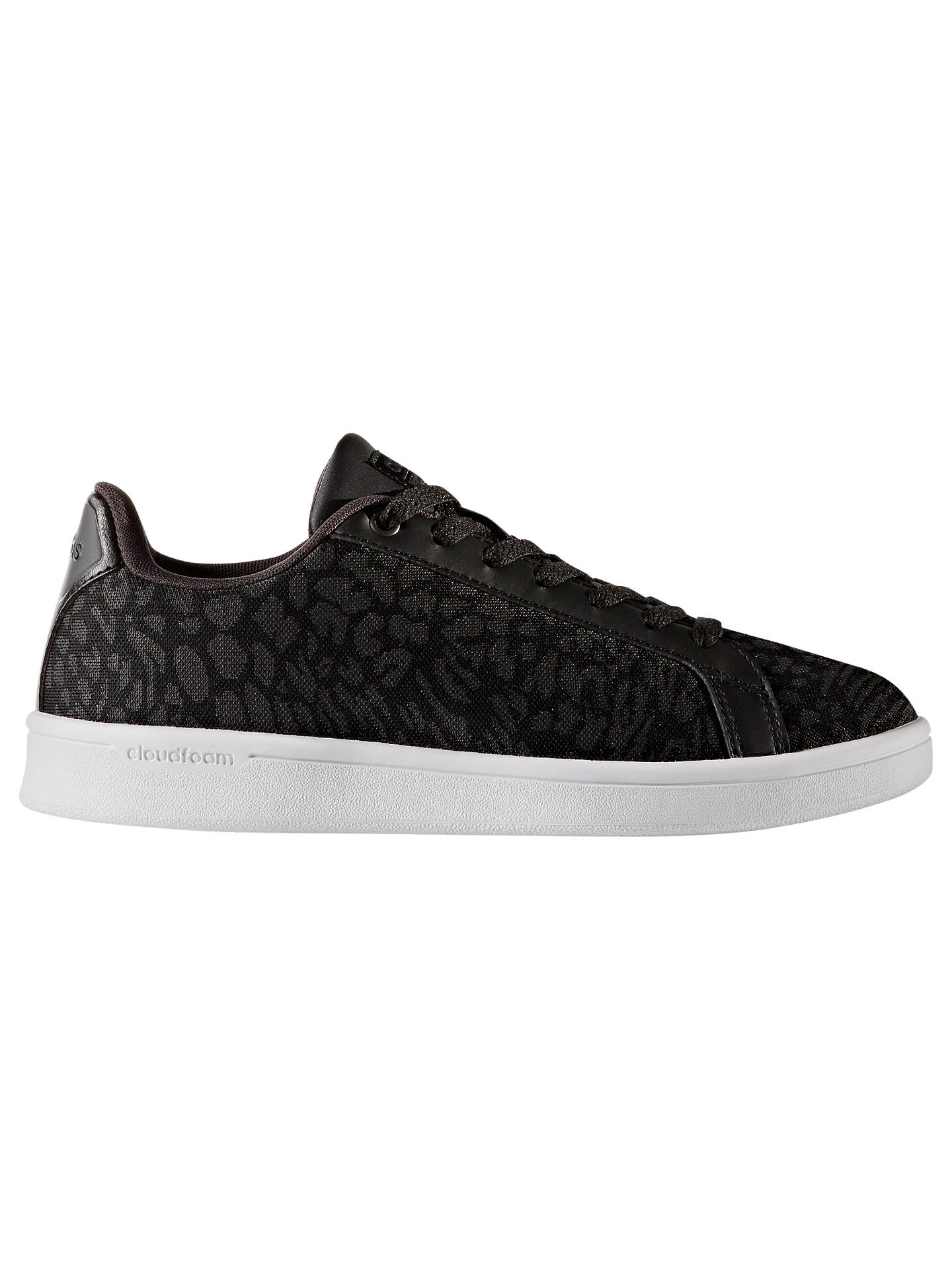free shipping b2311 33487 Buyadidas Cloudfoam Advantage Clean Women s Trainers, Black Animal, 4  Online at johnlewis. ...