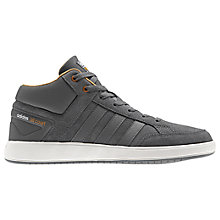 Buy Adidas Cloudfoam All Court Mid Men's Trainers, Grey Online at johnlewis.com