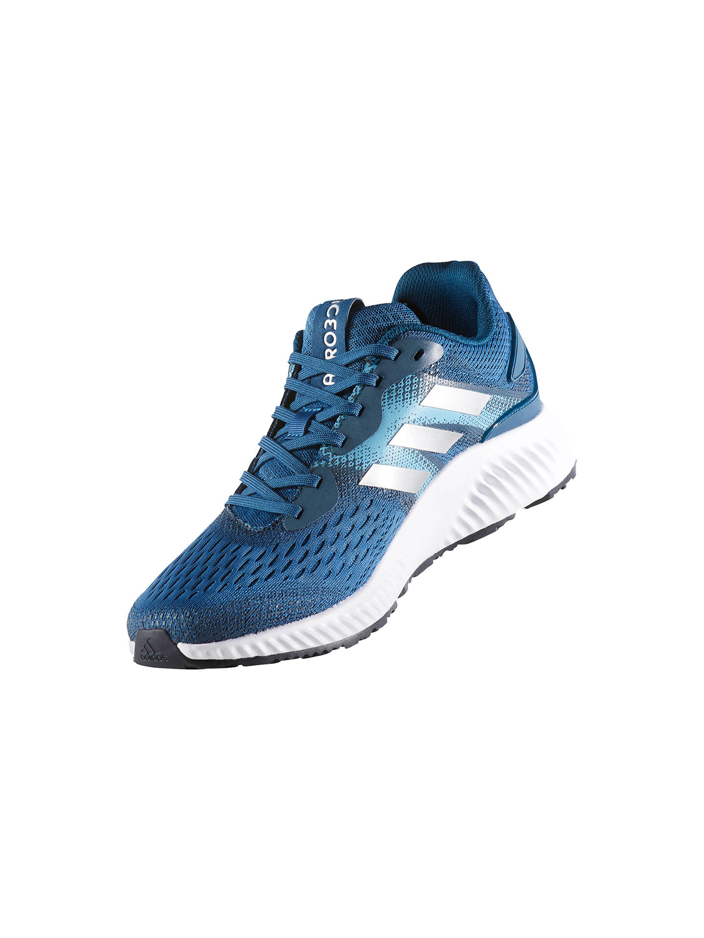 adidas Aerobounce Men's Running Shoes, Blue at John Lewis