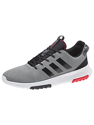 adidas Cloudfoam Racer TR Men's Trainers, Grey/Black/Scarlet at ...
