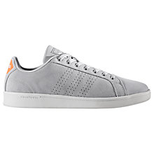Buy Adidas Cloudfoam Advantage Clean Men's Trainers, Grey Online at johnlewis.com