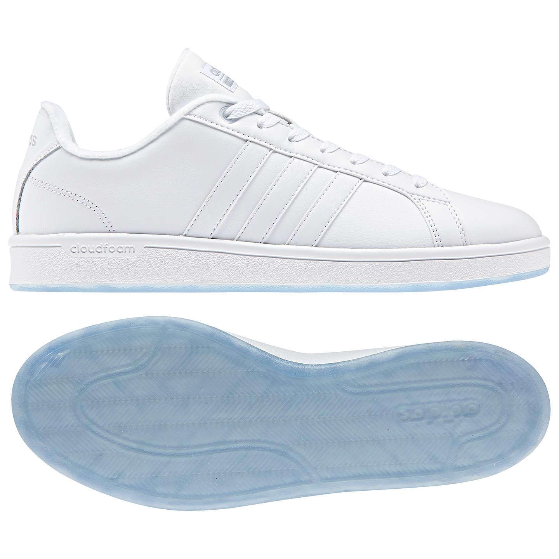 adidas neo cloudfoam advantage mens trainers white