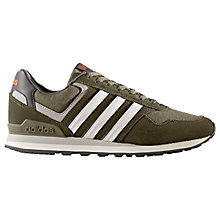 Buy Adidas Neo 10K Casual Men's Trainers, Olive Online at johnlewis.com