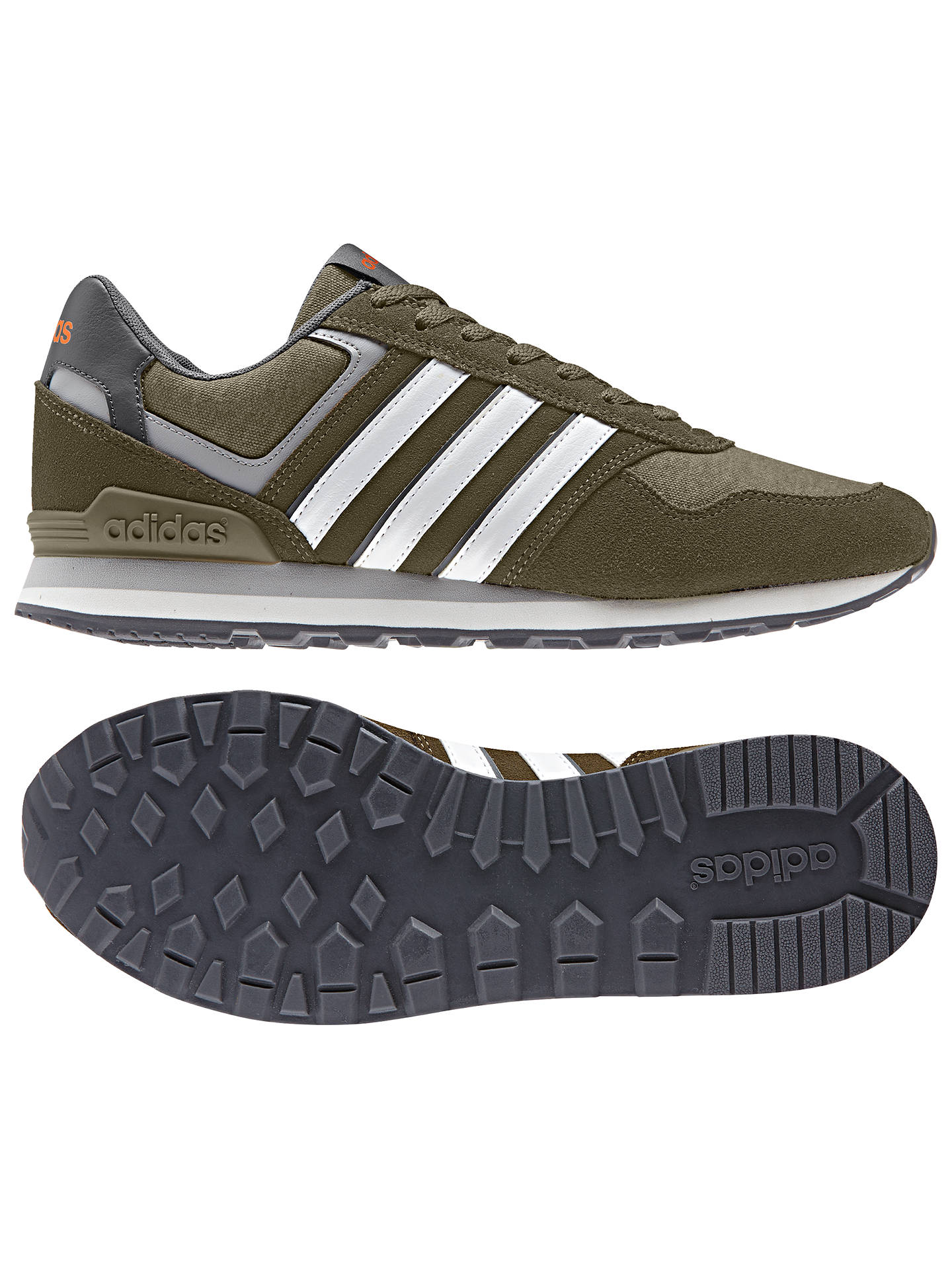 promo code 67e65 07d0f ... Buy adidas Neo 10K Casual Men s Trainers, Olive, 7 Online at johnlewis.  ...