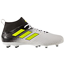 Buy Adidas Ace 17.3 Primemesh AG Men's Firm Ground Football Boots, White/Black/Yellow Online at johnlewis.com