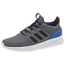 Buy Adidas Cloudfoam Ultimate Men's Trainers, Grey/Blue Online at johnlewis.com