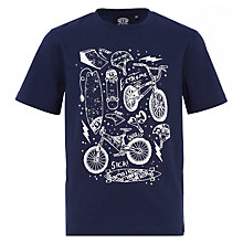 Buy Animal Boys' Hez Graphic Printed T-Shirt, Navy Online at johnlewis.com