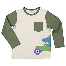 Buy Polarn O. Pyret Children's Safari Long Sleeve T-Shirt, Green Online at johnlewis.com