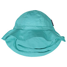 Buy Polarn O. Pyret Children's Sun Hat, Turquoise Online at johnlewis.com