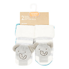 Buy John Lewis Baby Elephant Rattle Socks, Pack of 2, Multi Online at johnlewis.com
