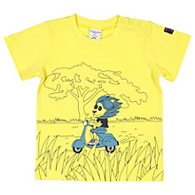 Buy Polarn O. Pyret Baby Lion Printed T-Shirt, Yellow Online at johnlewis.com