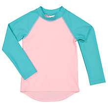 Buy Polarn O. Pyret Children's Long Sleeve UV Swim Top, Pink Online at johnlewis.com