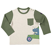 Buy Polarn O. Pyret Baby Safari Long Sleeve T-Shirt, Green Online at johnlewis.com