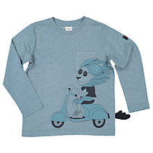 Buy Polarn O. Pyret Children's Scooter Lion Long Sleeve T-Shirt, Blue Online at johnlewis.com