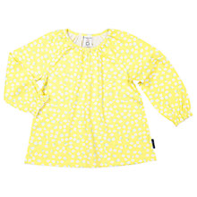 Buy Polarn O. Pyret Girls' Floral Frill Tunic Top, Yellow Online at johnlewis.com