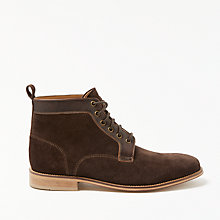 Buy John Lewis Suede and Leather Boots, Brown Online at johnlewis.com
