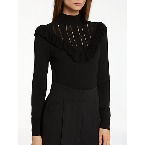 Buy Somerset by Alice Temperley Frill Pointelle Knit Jumper Online at johnlewis.com