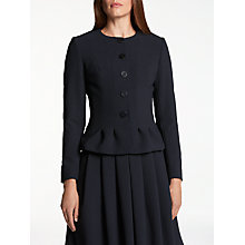 Buy Bruce by Bruce Oldfield Crepe Pleat Jacket, Navy Online at johnlewis.com