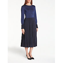 Buy Bruce by Bruce Oldfield Knit Pleated Dress, Navy Online at johnlewis.com