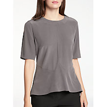 Buy Modern Rarity Silk Peplum Blouse, Grey Online at johnlewis.com