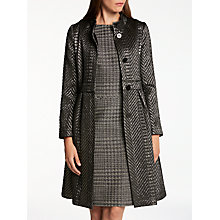 Buy Bruce by Bruce Oldfield Chevron Dress Coat, Metallic Online at johnlewis.com