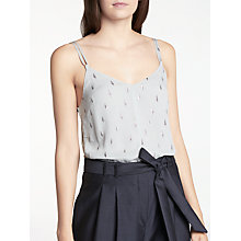 Buy Modern Rarity Silk Clipped Jacquard Cami, Sky Blue Online at johnlewis.com