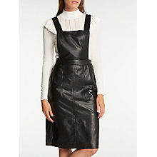 Buy Somerset by Alice Temperley Leather Pinafore Dress, Black Online at johnlewis.com