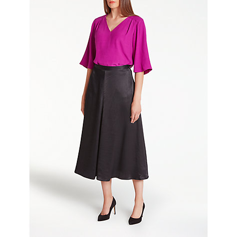 Buy Bruce by Bruce Oldfield Midi A-Line Skirt, Black Online at johnlewis.com