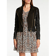 Buy Somerset by Alice Temperley Star Leather Jacket, Black Online at johnlewis.com