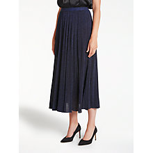 Buy Bruce by Bruce Oldfield Pleated Knit Skirt, Navy Online at johnlewis.com