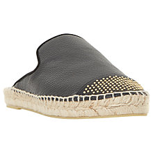 Buy Dune Black Glam Mule Espadrilles Online at johnlewis.com
