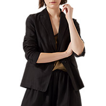 Buy Jigsaw Feather Jacket, Navy Online at johnlewis.com
