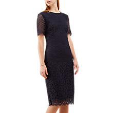 Buy Jigsaw Floral Engineered Lace Dress, Dark Navy Online at johnlewis.com