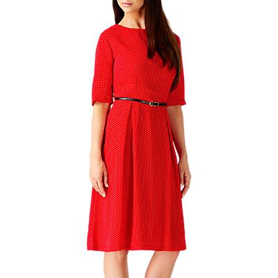 Sugarhill Boutique Nancy Polka Dot Print Dress, Red/White