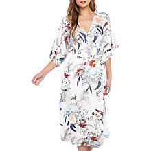 Buy Miss Selfridge Oriental Bird Wrap Midi Dress, Multi Online at johnlewis.com
