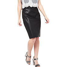 Buy Miss Selfridge Petite PU Mini Skirt, Black Online at johnlewis.com