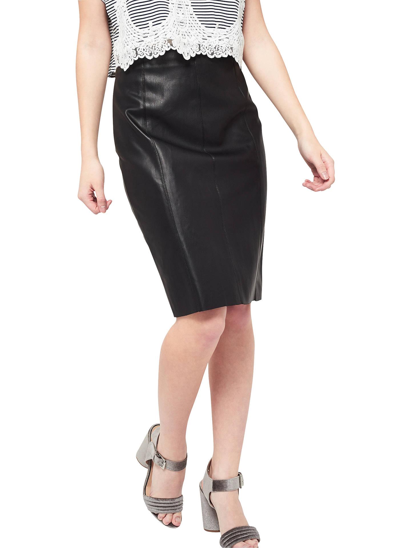 cffa502294 Buy Miss Selfridge Petite PU Mini Skirt, Black, 6 Online at johnlewis.com  ...