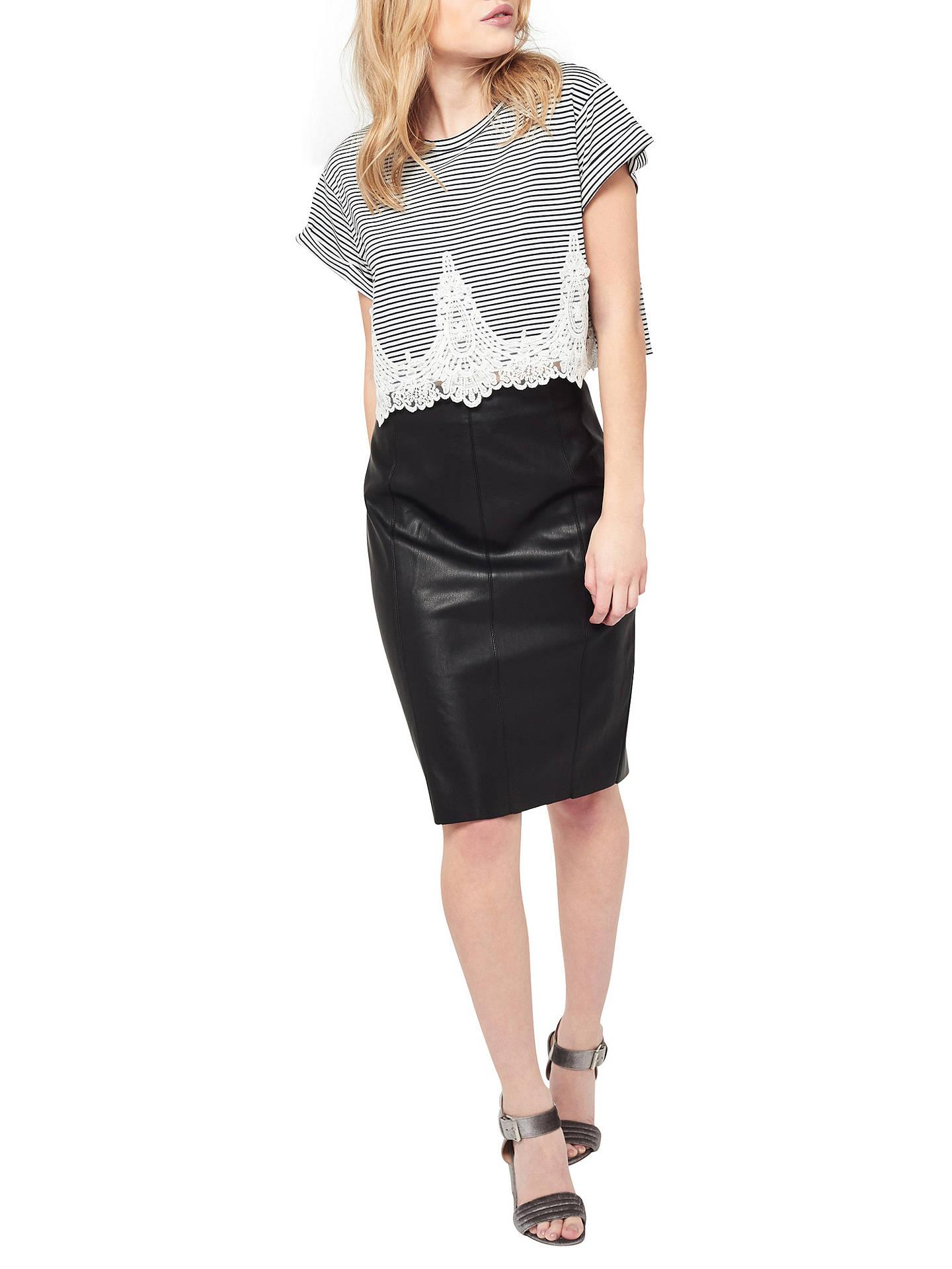 dd3f13f0fd8b ... Buy Miss Selfridge Petite PU Mini Skirt, Black, 6 Online at  johnlewis.com ...