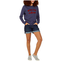 Buy Fat Face More Fun In The Sun Sweatshirt, Navy Online at johnlewis.com