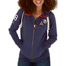 Buy Fat Face Badged Club Full Zip Hoodie, Navy Online at johnlewis.com