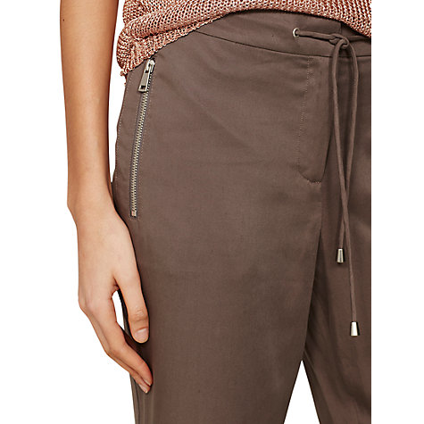 Buy Mint Velvet Zip Sports Cropped Trousers Online at johnlewis.com