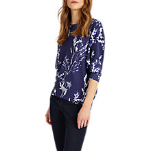 Buy Phase Eight Den Simone Print Knit Top, Denim Online at johnlewis.com