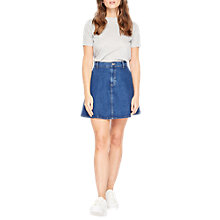 Buy Miss Selfridge Denim Skater Skirt, Indigo Online at johnlewis.com