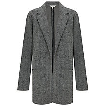Buy Miss Selfridge Tweed Boyfriend Blazer, Black Online at johnlewis.com