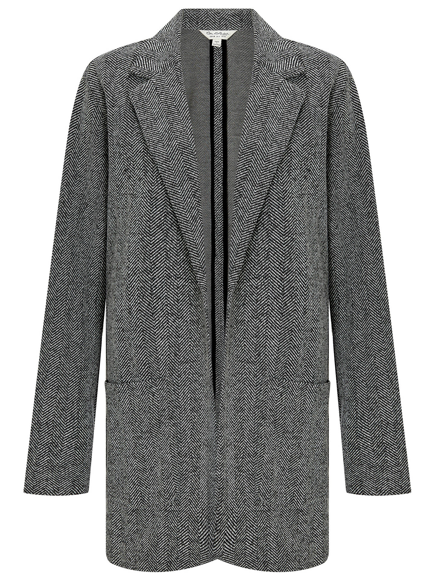 d81a758ec Miss Selfridge Tweed Boyfriend Blazer, Black at John Lewis & Partners