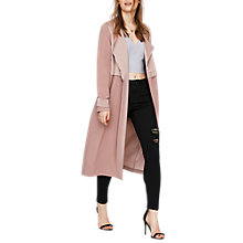 Buy Miss Selfridge Matt and Shine Duster Coat, Powder Blush Online at johnlewis.com