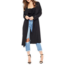 Buy Miss Selfridge Matt and Shine Duster Coat, Black Online at johnlewis.com
