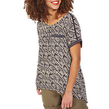 Buy Fat Face Zoe Tribal Print Longline Top, Phantom Online at johnlewis.com